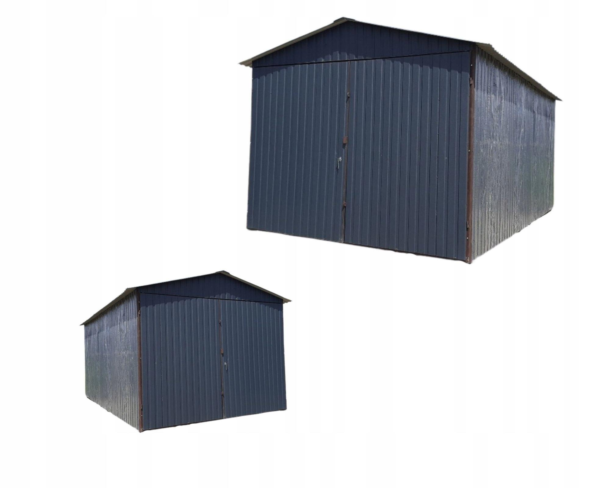 Жестяные гаражи, жестяные гаражи, гараж 3х5, графит, Малопольское воеводство