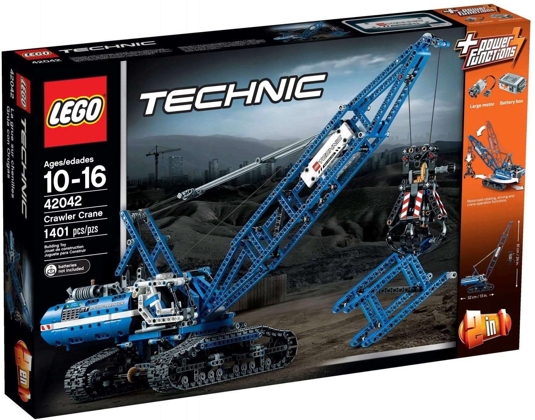 LEGO Technic 42042 Żuraw gąsienicowy 2 w 1