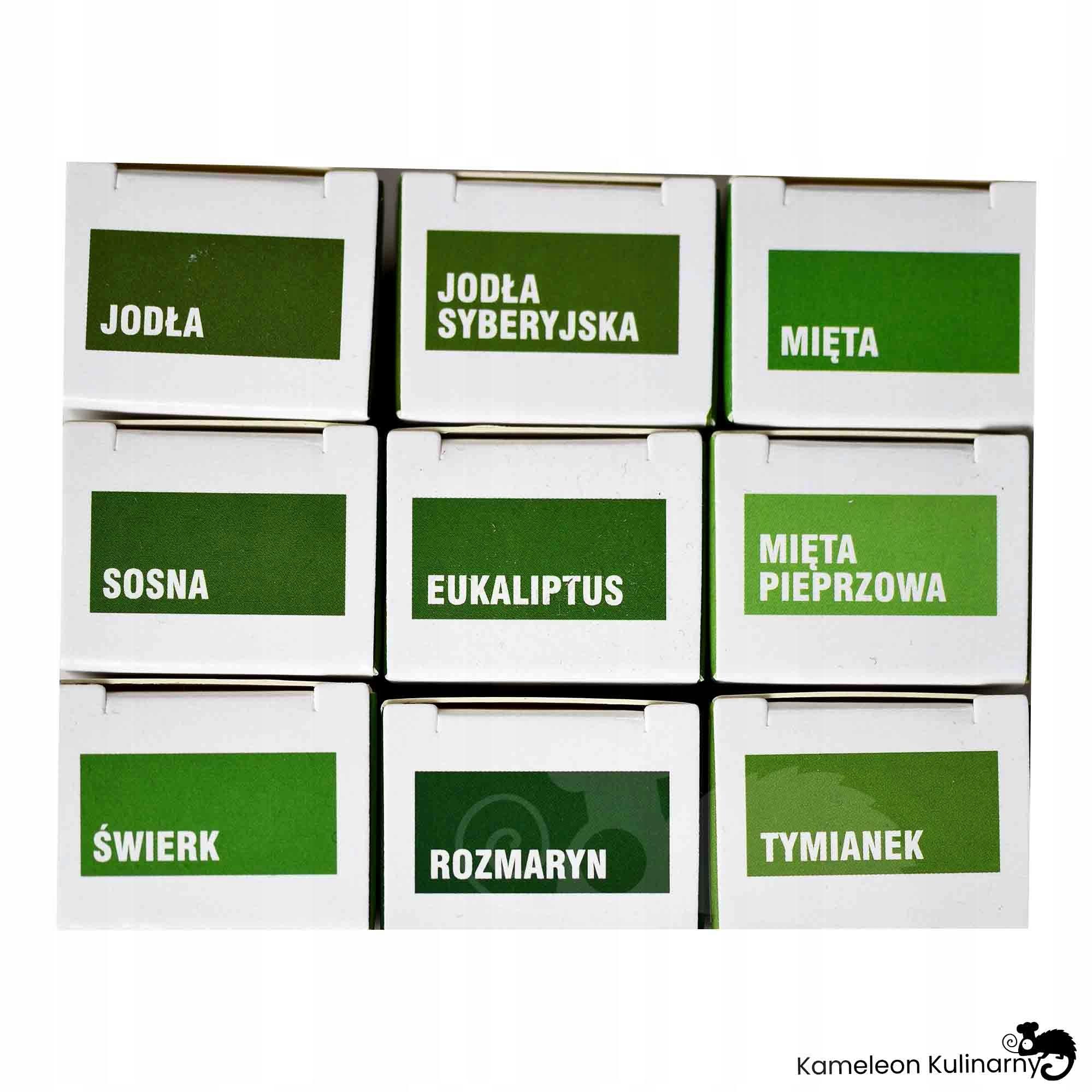 NATURALNE OLEJKI ETERYCZNE zestaw 9szt lecznicze Kod producenta aromaterapia olejek zapachowy ZESTAW