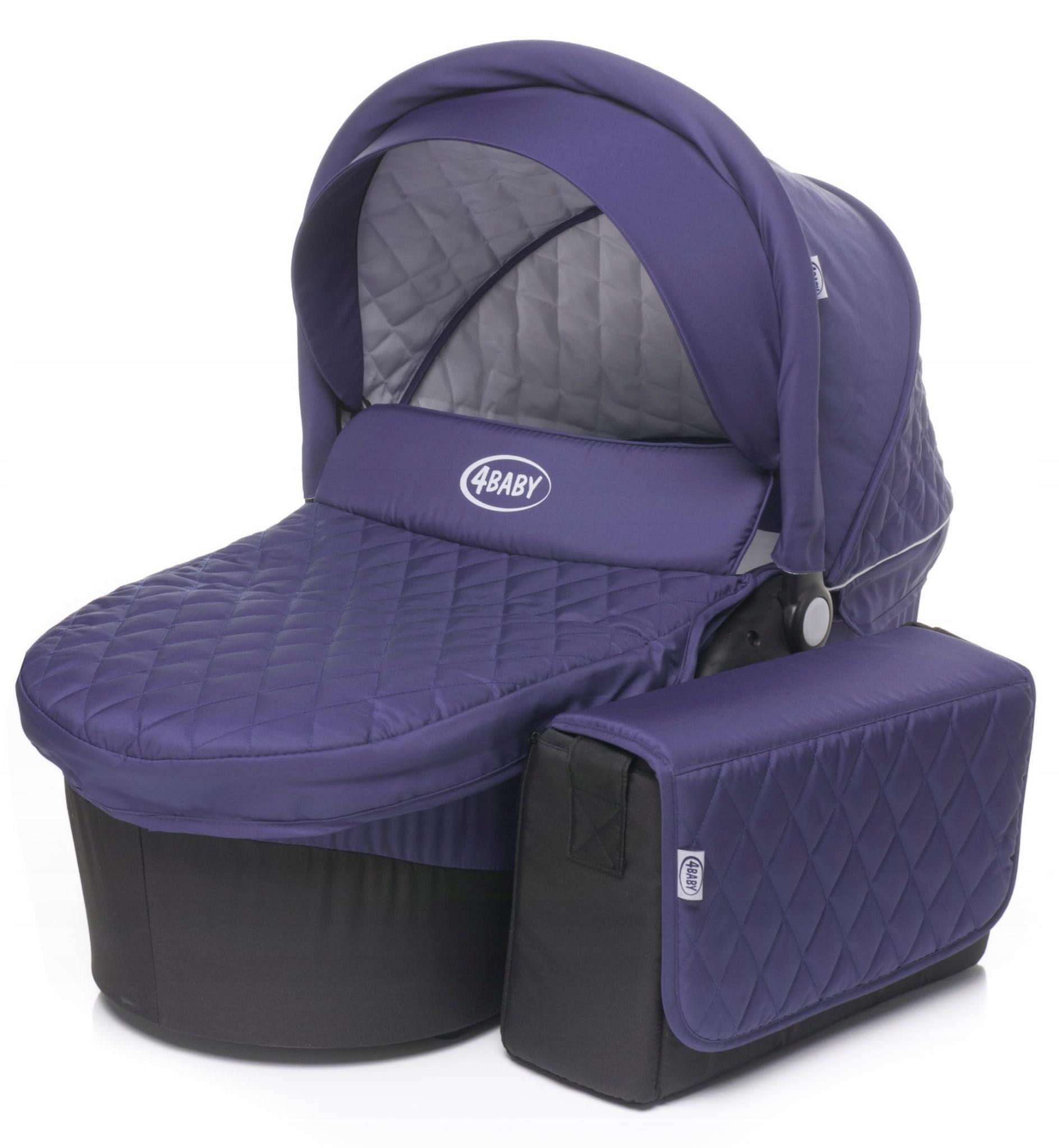 4baby atómová taška + taška - fialová