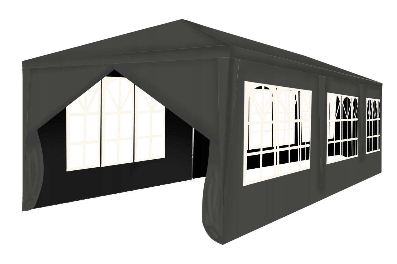 Komerčný stan Záhradný pavilón 3x9m + 8 stien. Farba: odtiene šedej