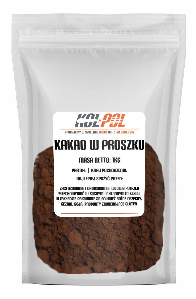 Kakao zaw. tłuszcz 10-12% alkalizowane pH7,5 1kg