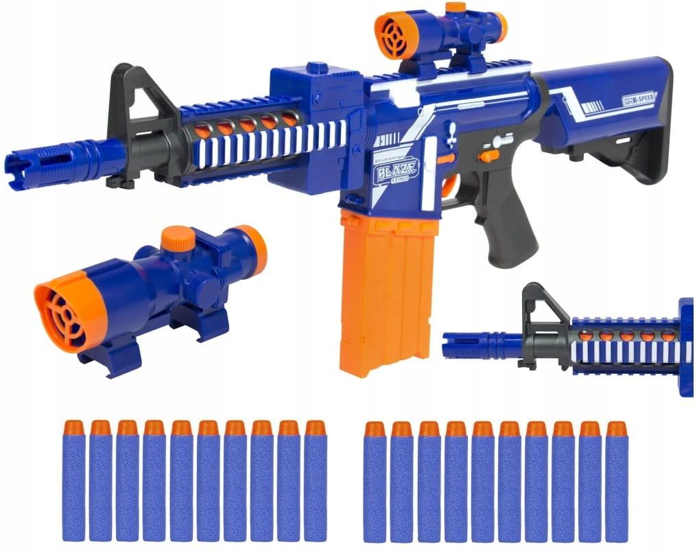 Puška AUTOMATIC BLAZE Búrka +20 šípok NERF