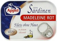Купить Филе сардины Appel без кожи в оливковом масле 105г на Otpravka - цены и фото - доставка из Польши и стран Европы в Украину.