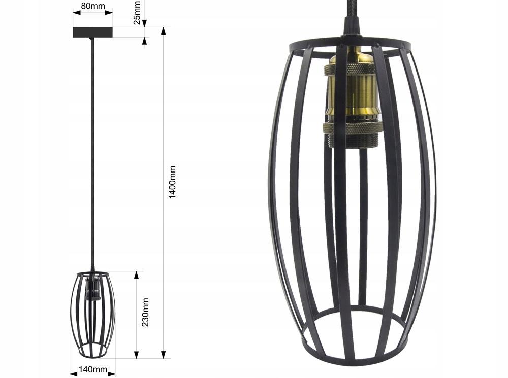 LAMPA SUFITOWA WISZĄCA LARGO ŻYRADNOL LED LOFT AC1 Rodzaj lampy Sufitowe - wiszące