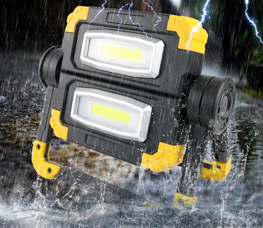 Funkcjonalna LAMPA ROBOCZA LED AKUMULATOROWA Moc 20 W