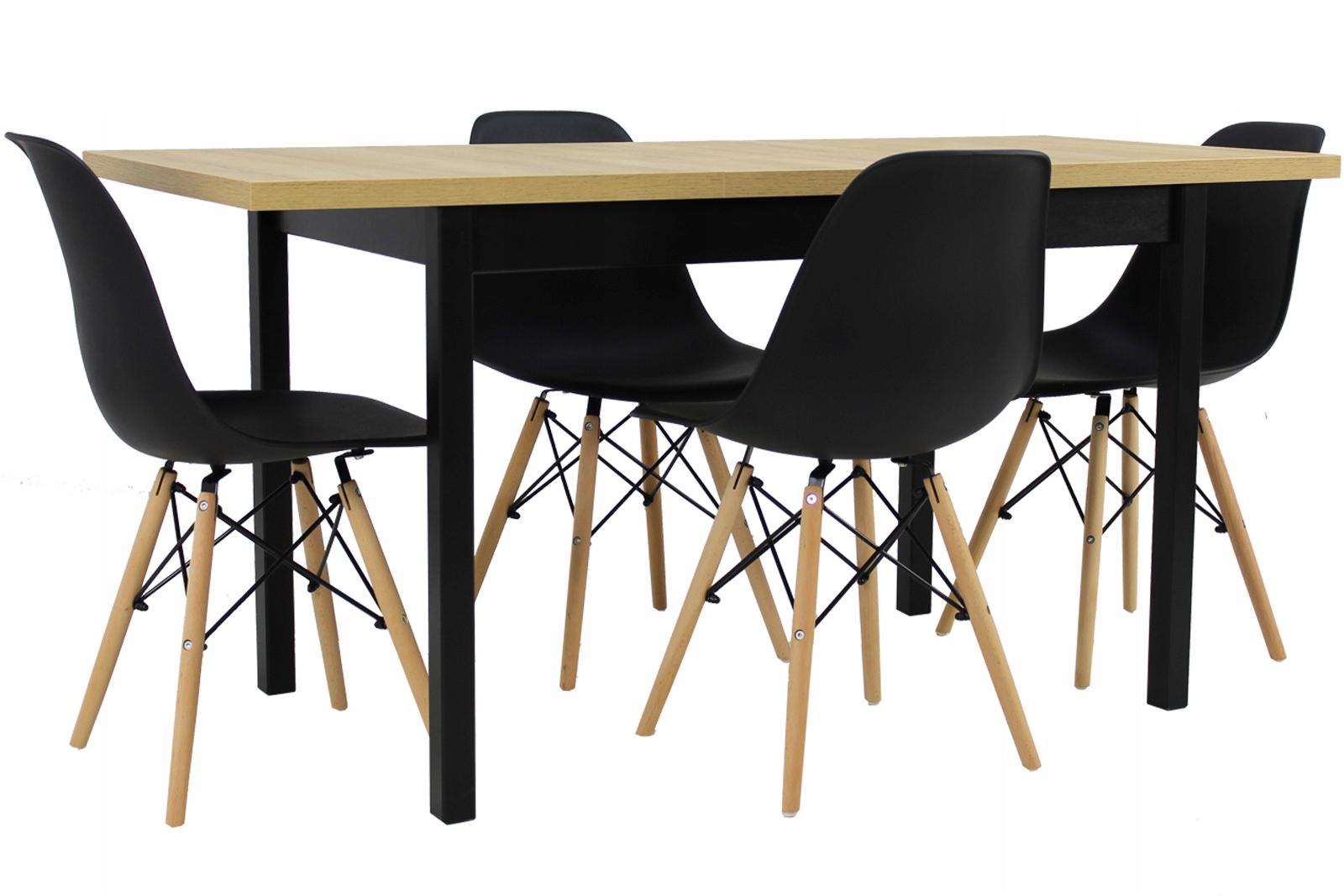 Скандинавский набор TABLE 70x120 / 160 и 4 стула