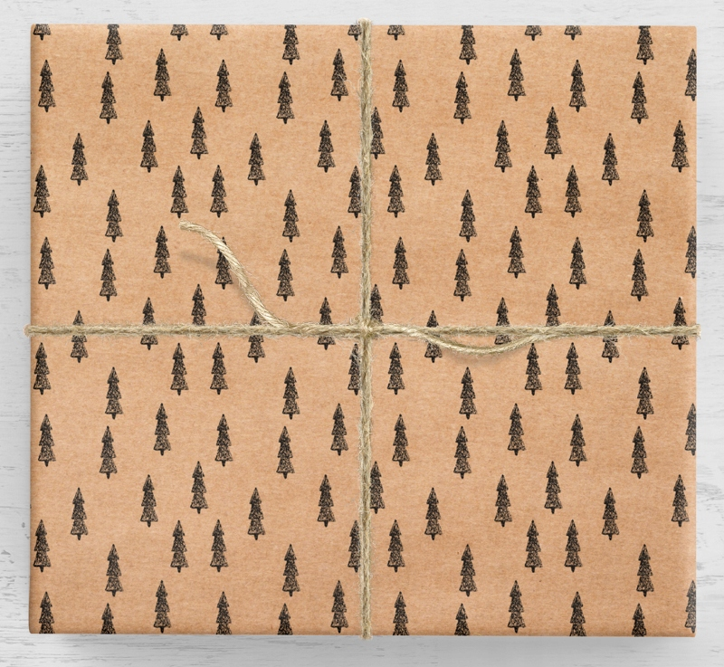 Darčekový baliaci papier na vianočný stromček 10 listov