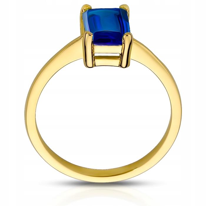 ZJAWISKOWY Złoty pierścionek SZAFIR pr.333 9264464606 UrRNUUlJ