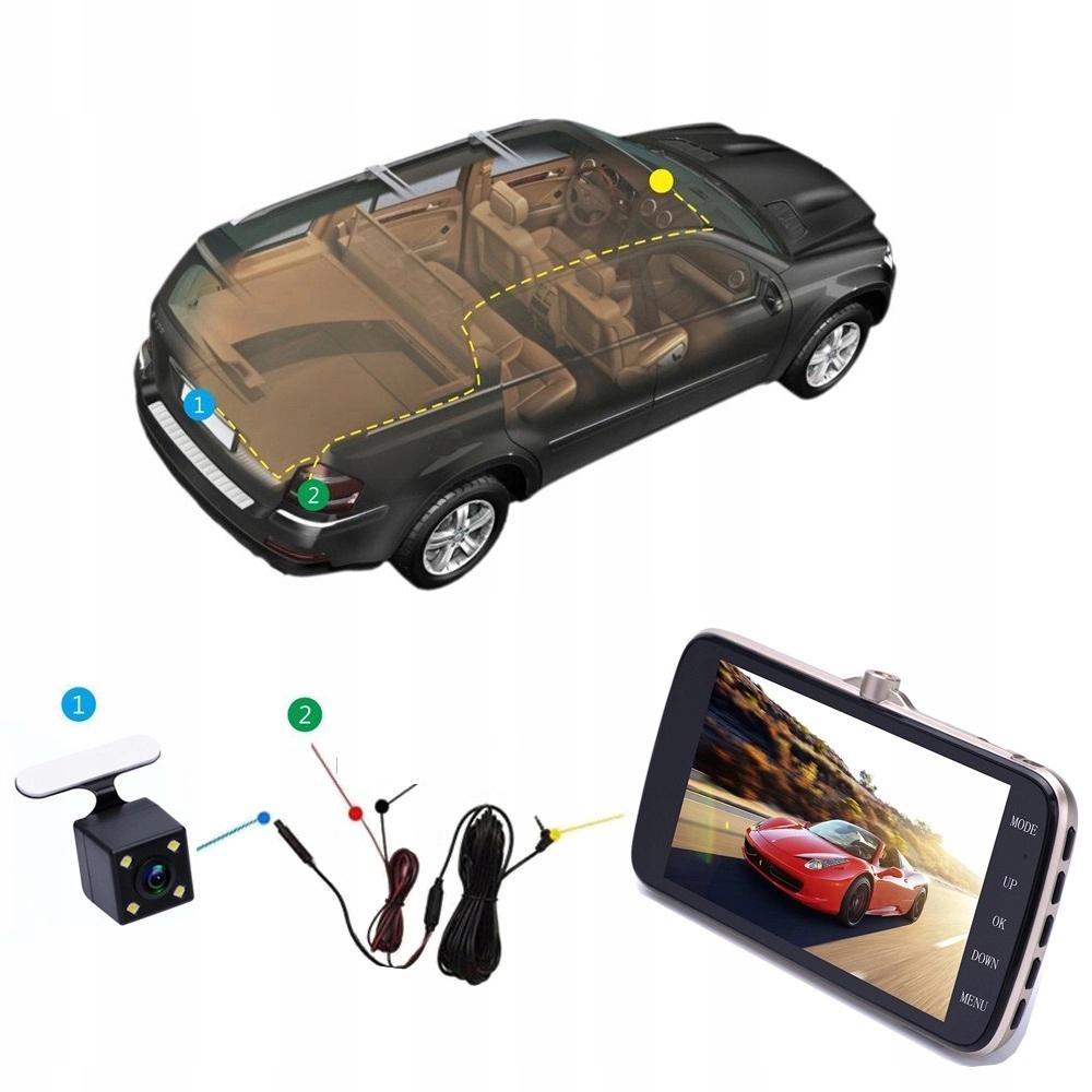 Video Rejestrator Jazdy Kamera samochodowa cofania Karta pamięci w zestawie brak