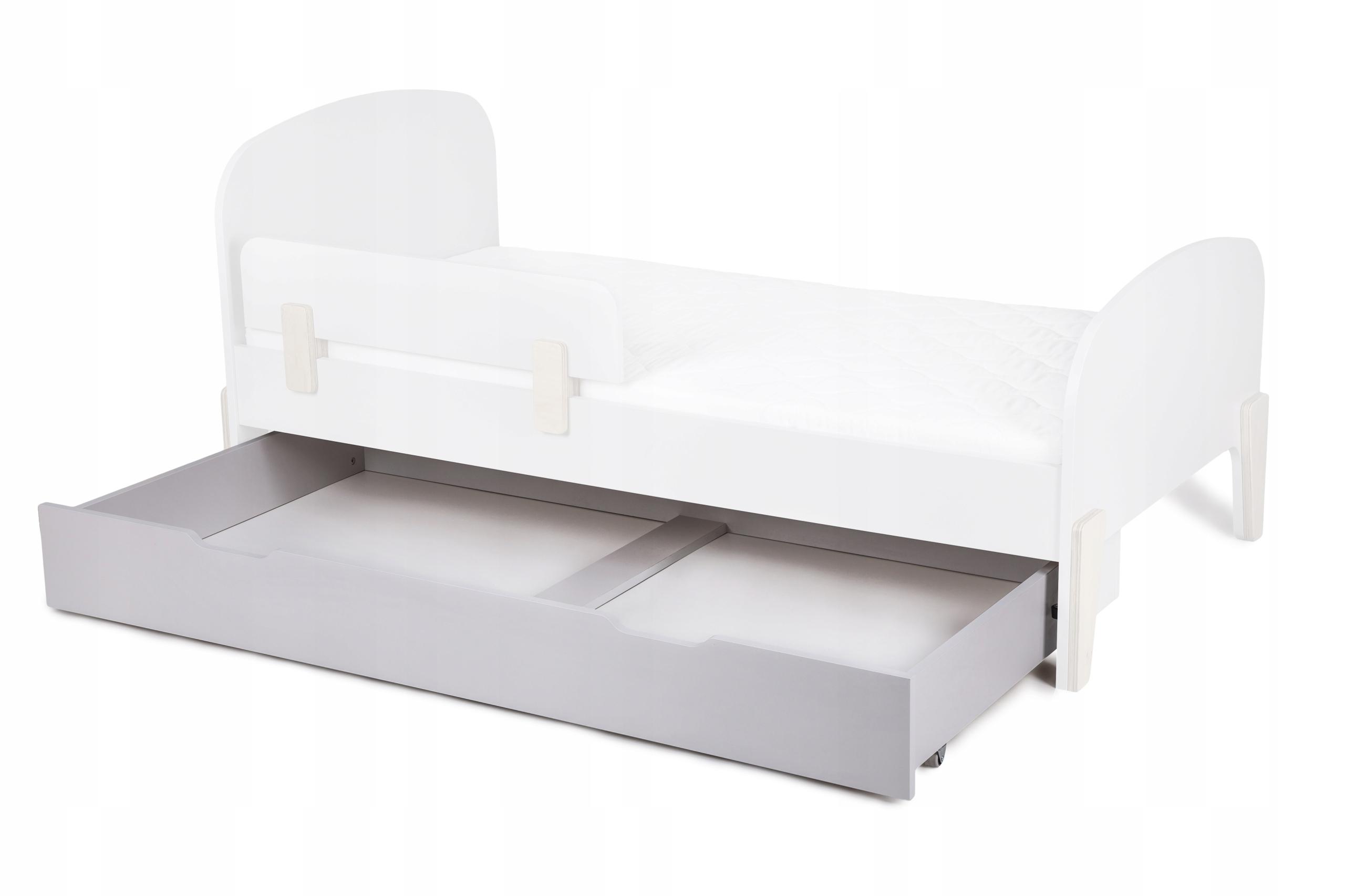 Zásuvka na kolieskach do postele RETRO, šedá, 80x160