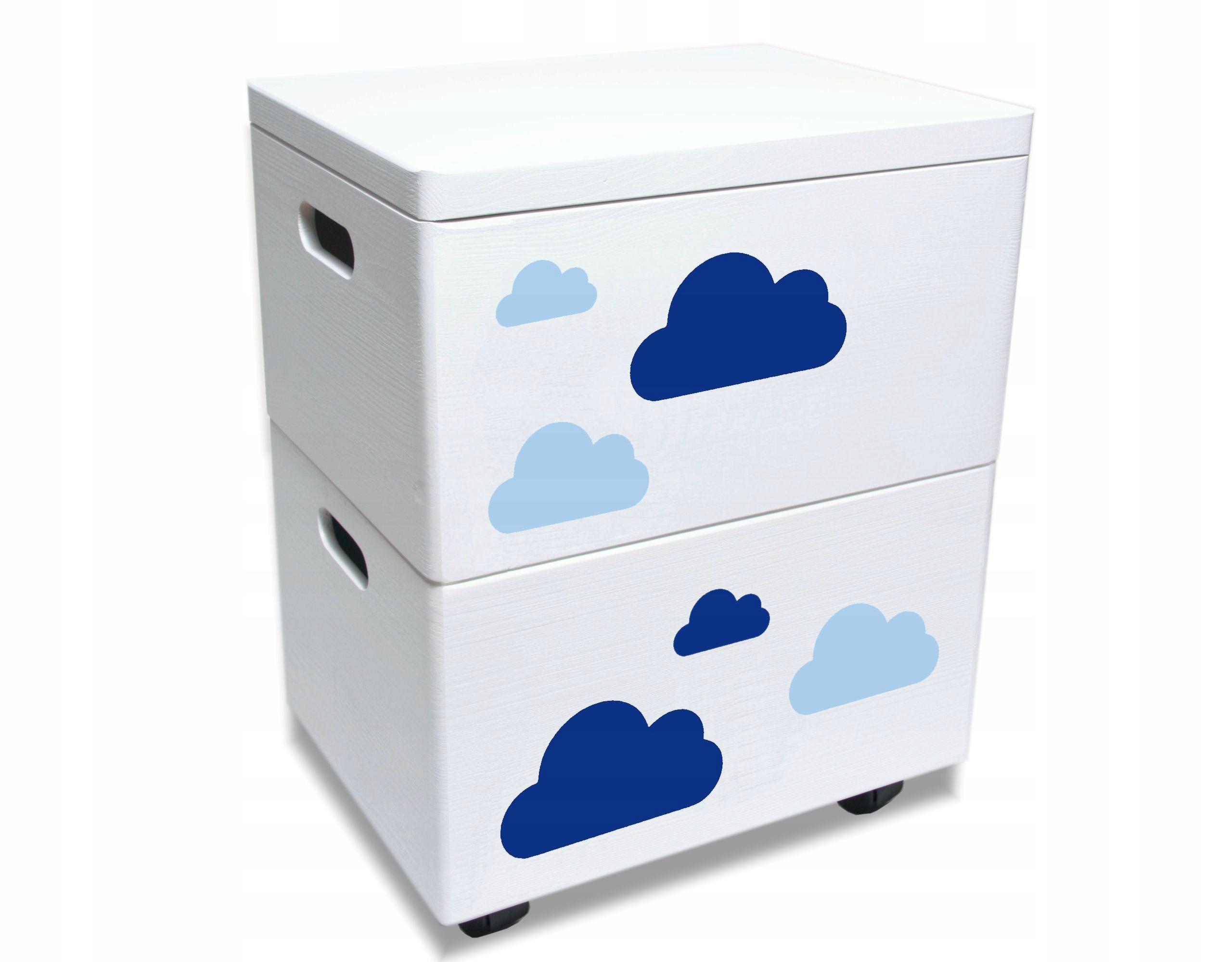 Набор из двух деревянных ящиков для игрушечных облаков