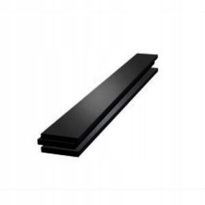 płaskownik aluminiowy dekoracyjny 8x2x200 czarny