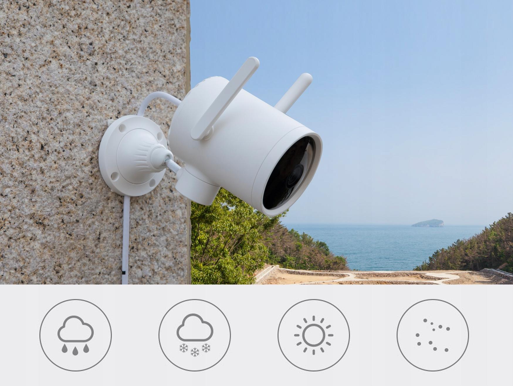 IMILAB EC3 Kamera IP ZEWNĘTRZNA obrotowa 3MPIX 2K Załączone wyposażenie Zasilacz z kablem 3m Zestaw uchwytów do montażu