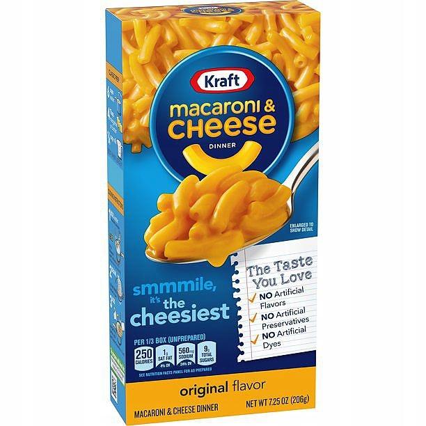 Макароны и сырный сыр 206г из США