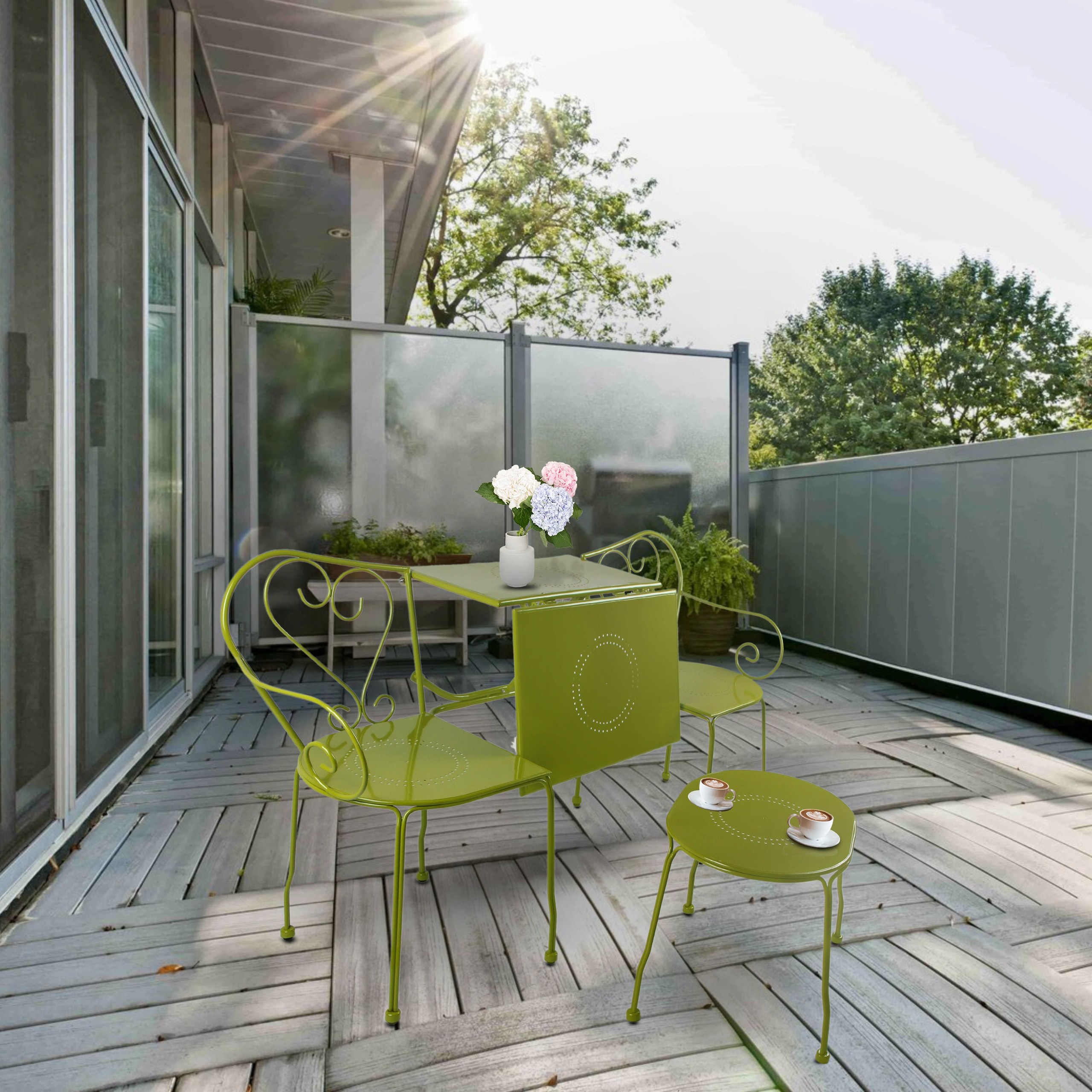 Záhradný balkónový nábytkový set Stolný konferenčný stolík Kód produktu H095719A