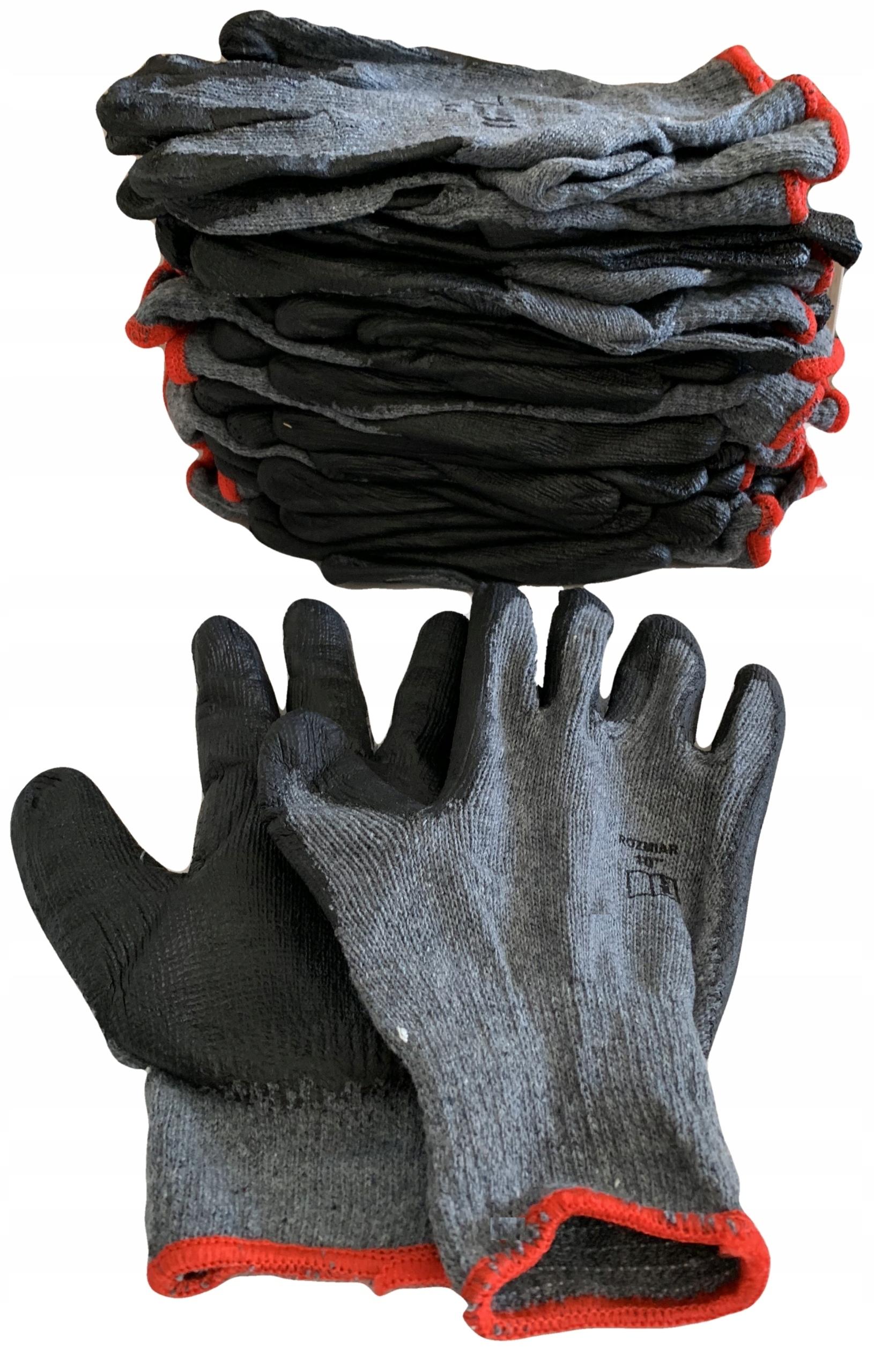 Rękawice RĘKAWICZKI robocze SZARO-CZARNE OP 12 par