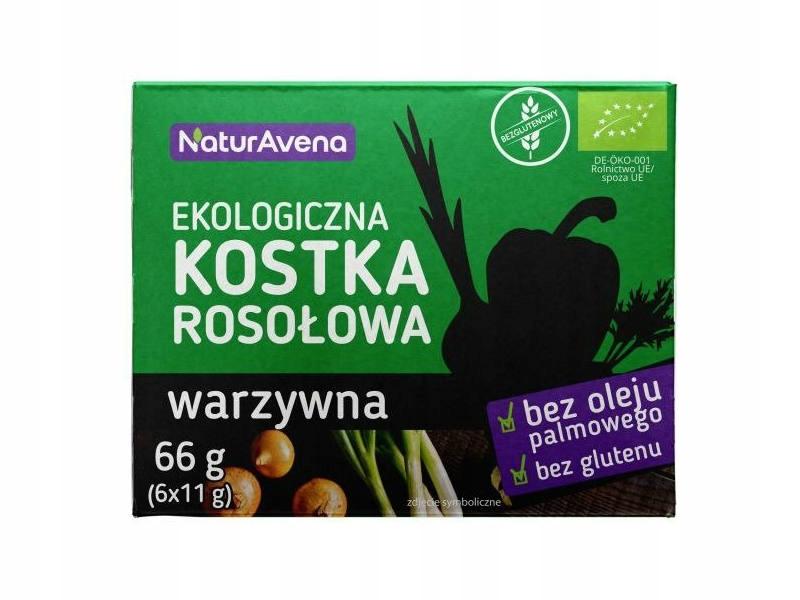 Купить Бульонные кубики Овощные 6x11g - NaturAvena БИО на Otpravka - цены и фото - доставка из Польши и стран Европы в Украину.