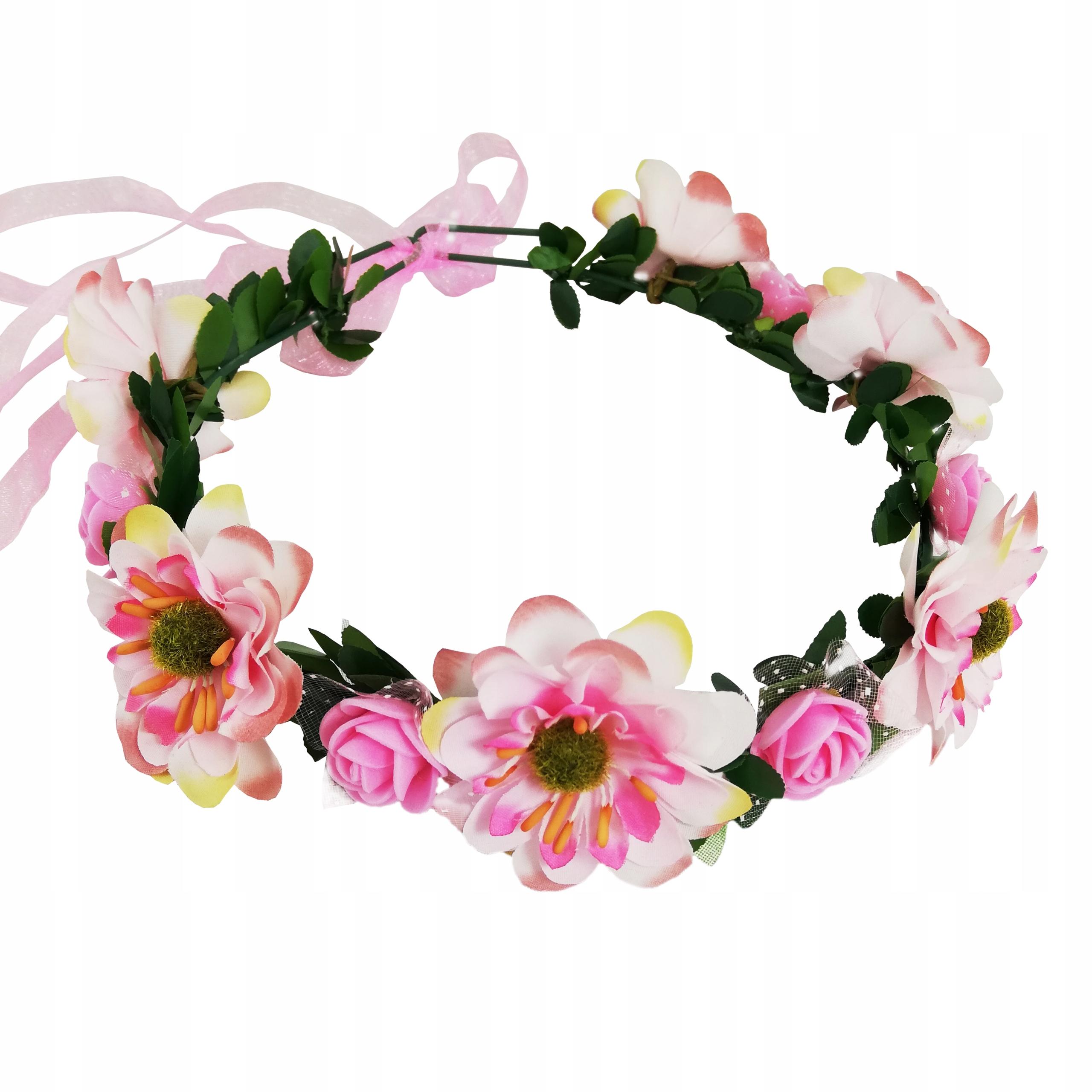Wianek Opaska Kwiaty Wstazka Na Wieczor Panienski 9611844609 Allegro Pl