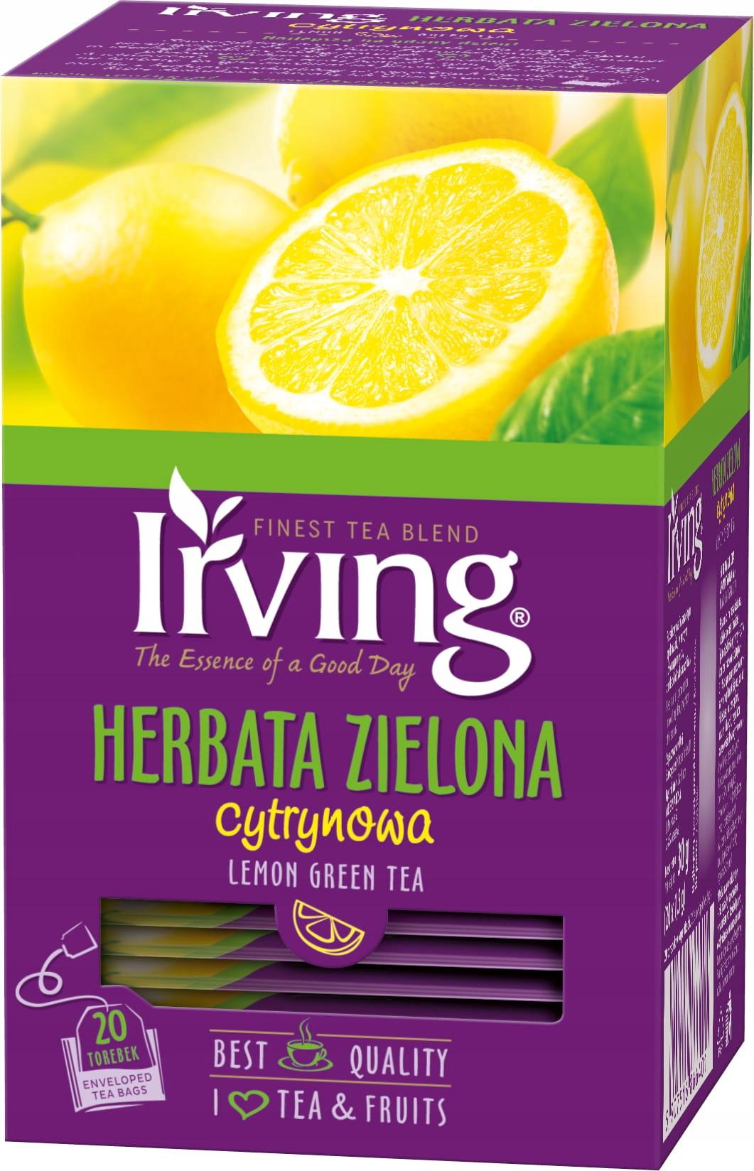 Лимонно-зеленый чай 20 конвертов Irving