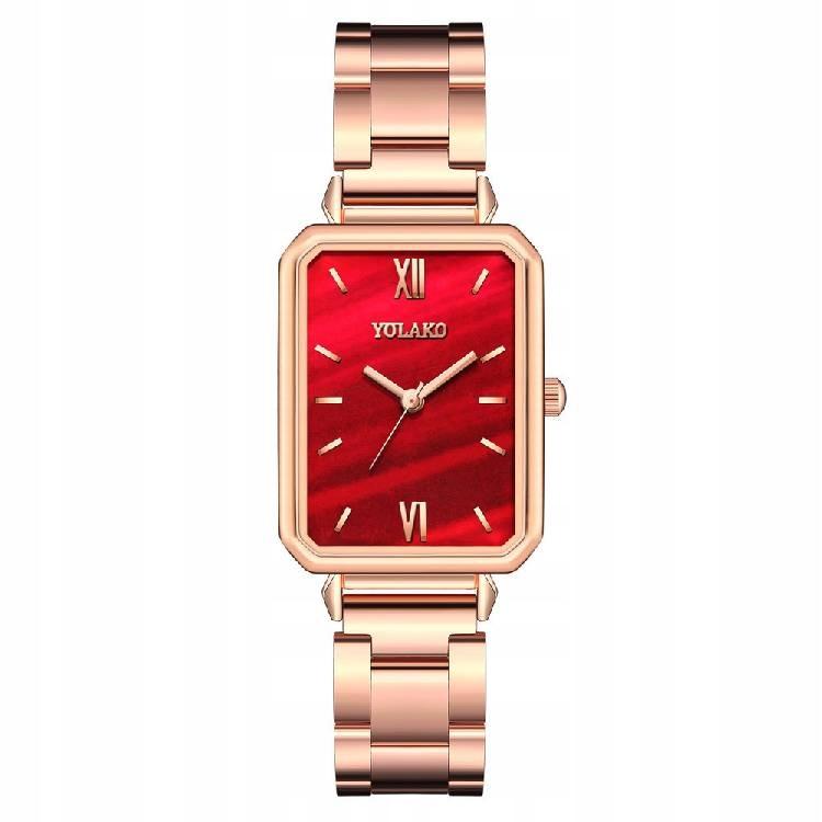 Retro hodinky so štvorcovým červeným sv