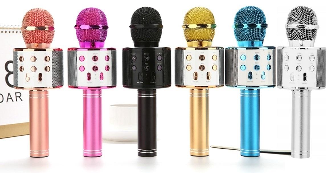 Bezdrôtový mikrofón Karaoke Bluetooth reproduktor
