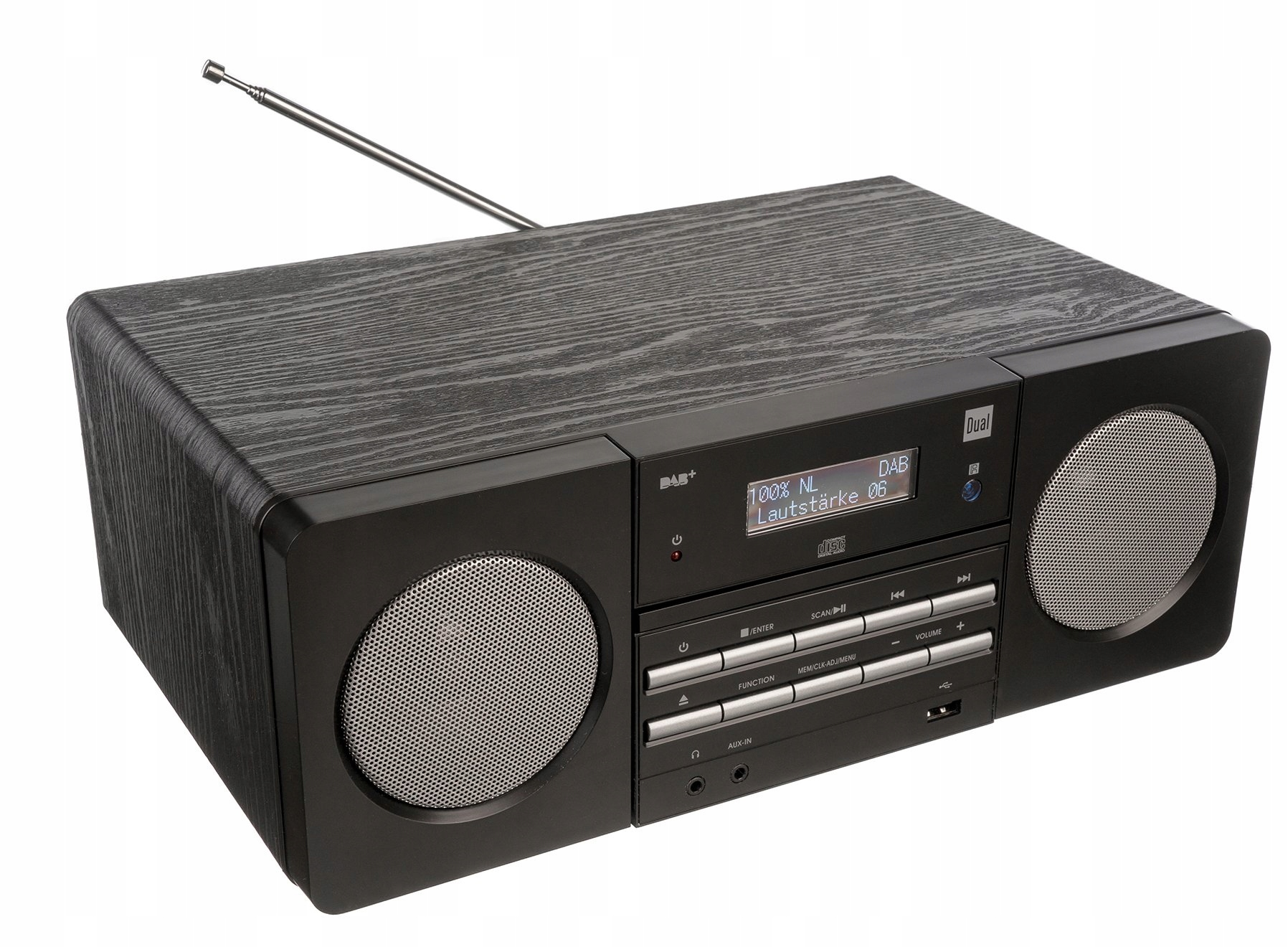 DAB + FM ЦИФРОВОЕ РАДИО PLL CD MP3 USB AUX IN WOOD