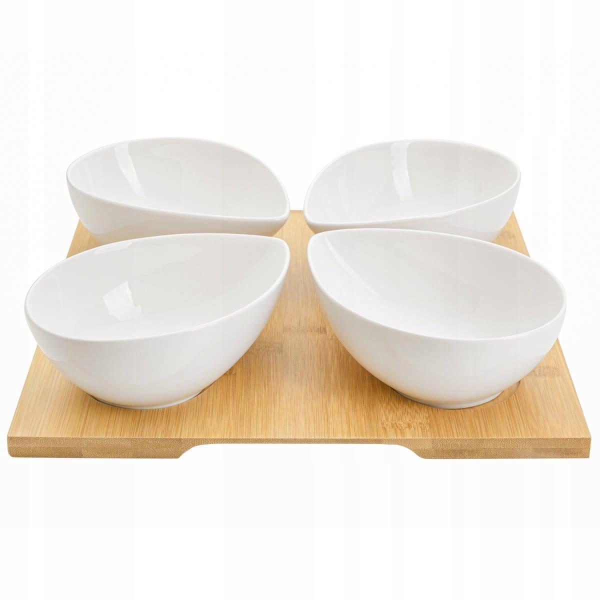 Чаша для соуса 4 шт на бамбуковой доске Adria