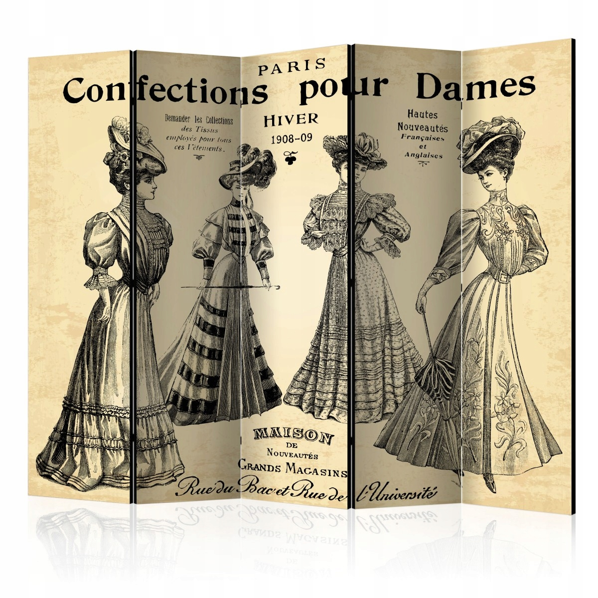 Displej 5-čiastočné 225x172 Vintage Retro ženy
