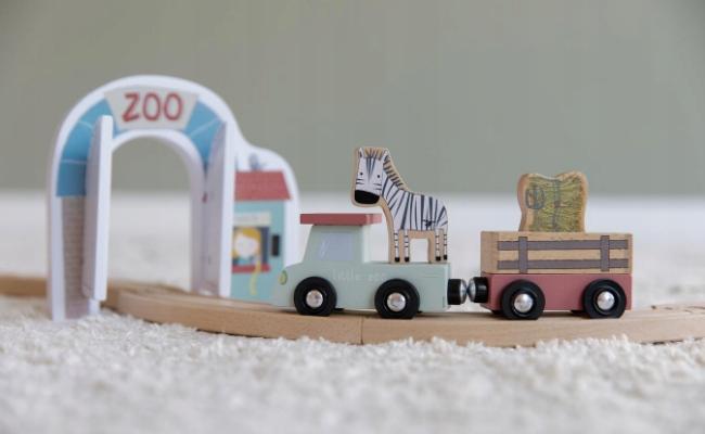Little Dutch auto Zestaw kolejka pociąg Zoo Liczba elementów 28 szt.