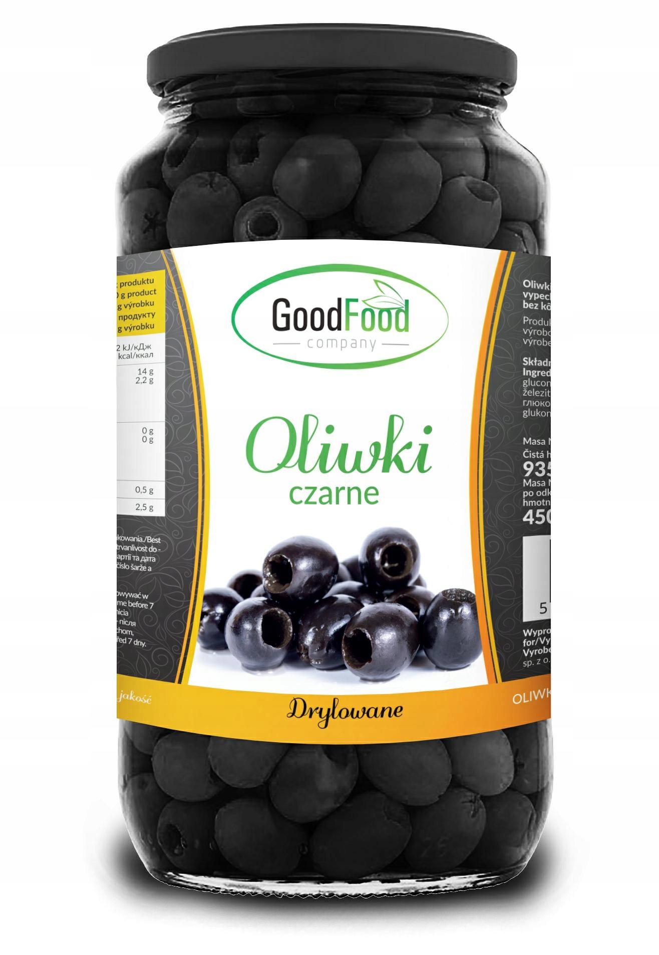 GOODFOOD - Oliwki czarne całe 935g