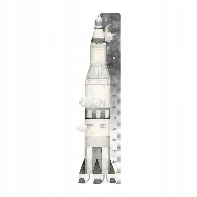 Детская наклейка с ракетой DK420 / RULER KOSMOS