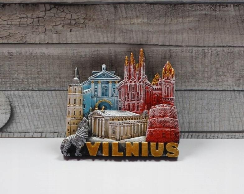 ЛИТВА / ВИЛЬНЮС - магнит на холодильник