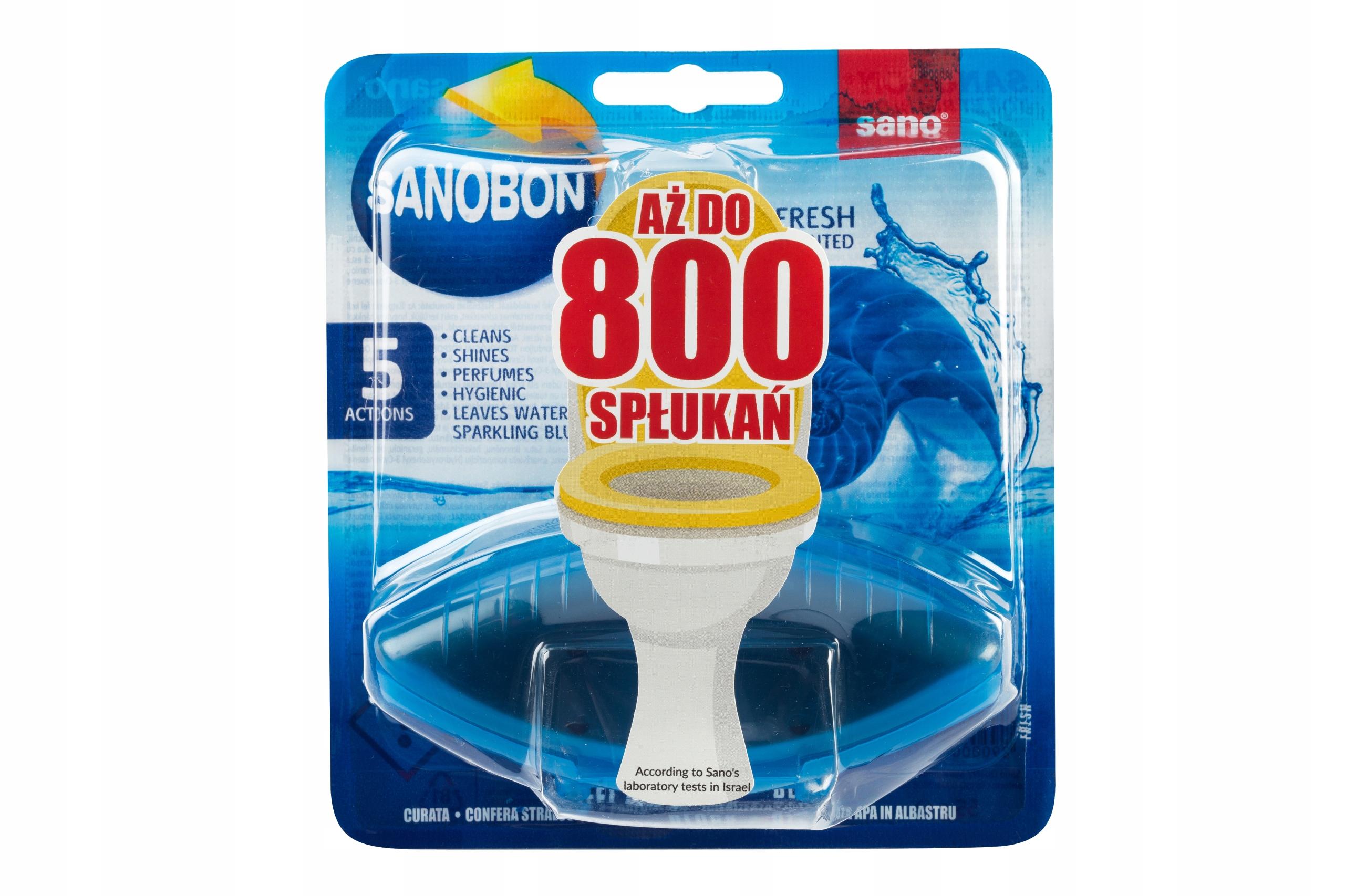 Sanobon Zawieszka do WC barwiąca FRESH 55g