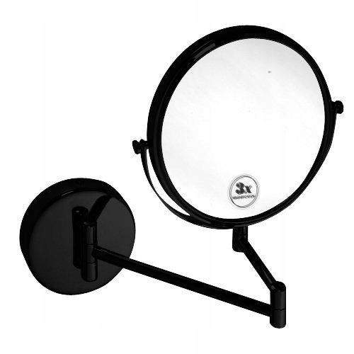 Kozmetické zrkadlo Bemeta Dark X3 čierne