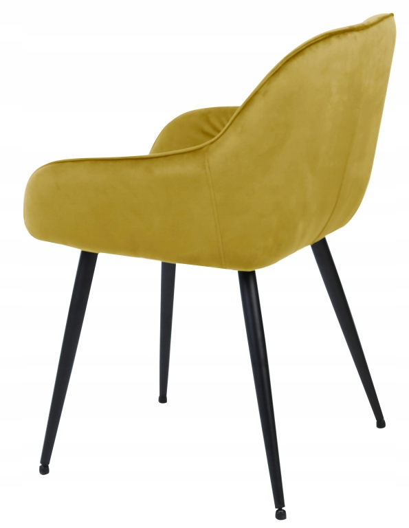 Krzesło tapicerowane Loren velvet curry Materiał obicia welur