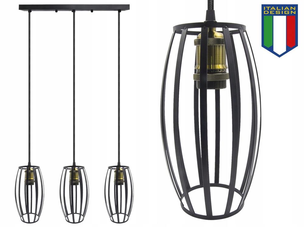 LAMPA SUFITOWA WISZĄCA LARGO ŻYRADNOL LED LOFT AC3 Kolor czarny