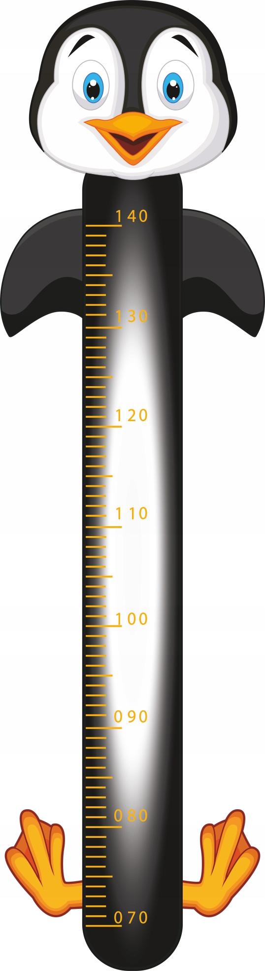 Настенная наклейка для измерения высоты HAPPY PENGUIN
