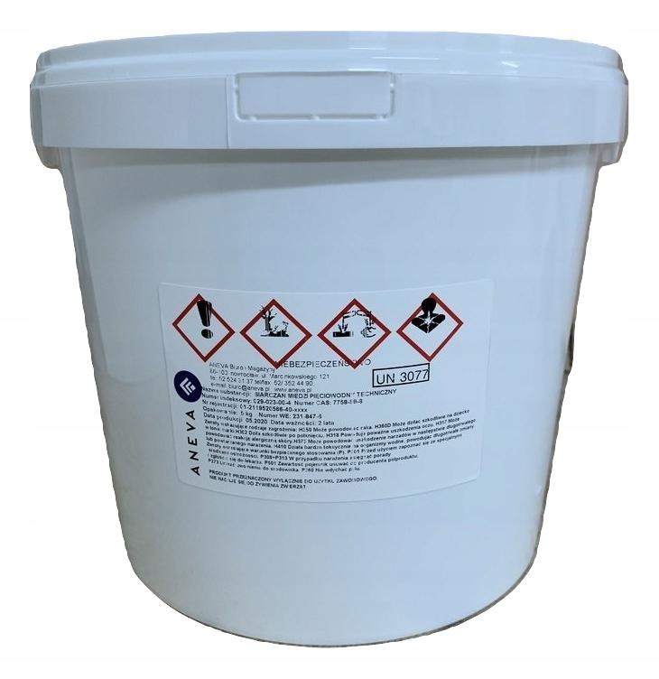 Siarczan MIEDZI 5H2O wiadro 5kg produkt PL FV23%