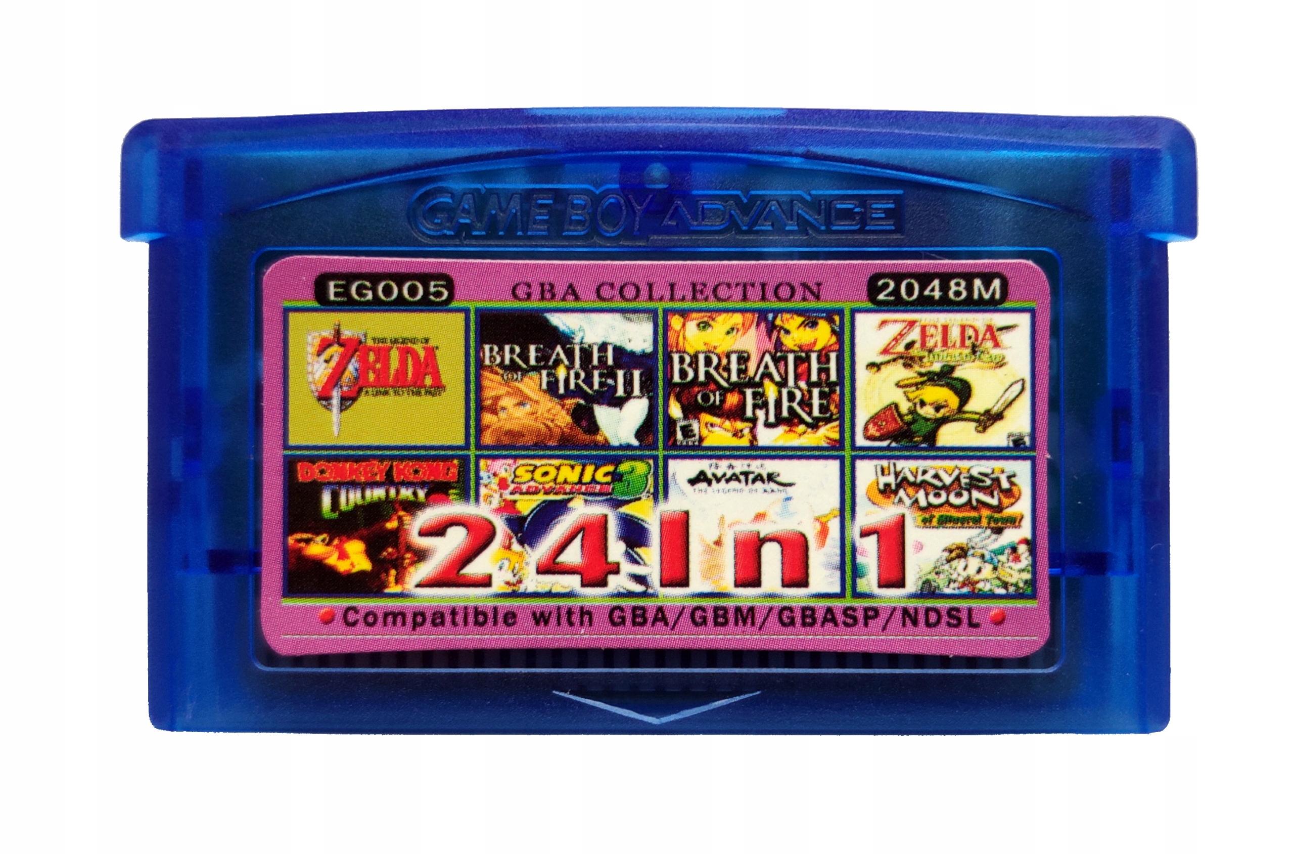 24 v 1 GameBoy Advance GBA - Zelda + Harvest Moon