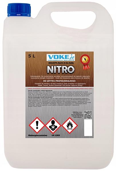 VOKE - ROZPUSZCZALNIK ROZCIEŃCZALNIK NITRO - 5L