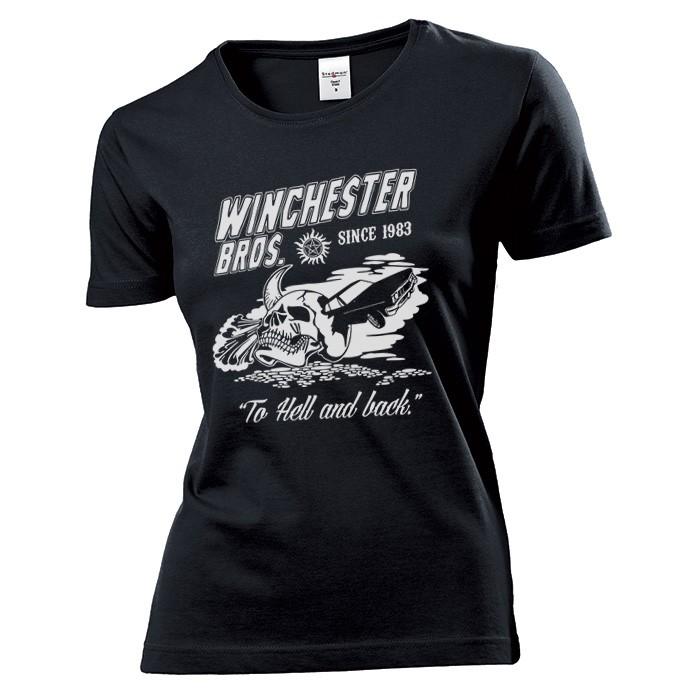 Koszulka damska Winchester Bros To Hell Back c XL