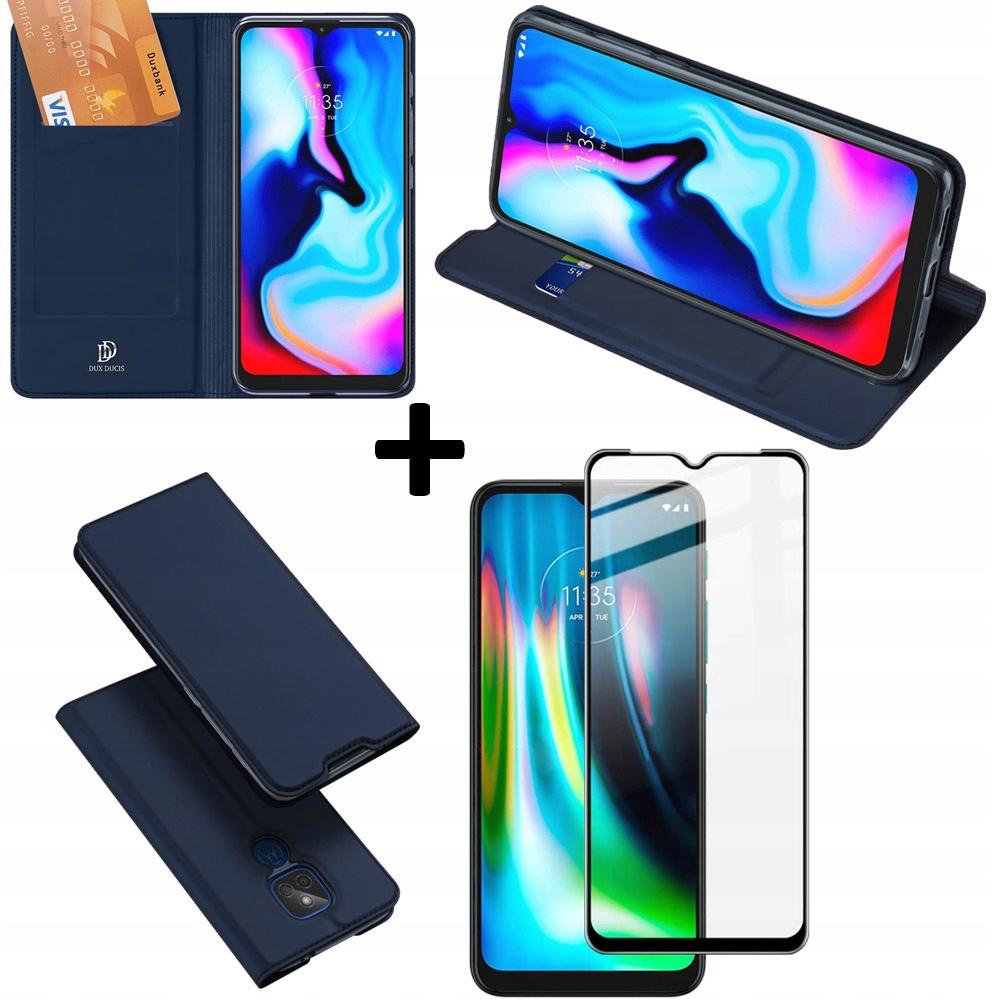 Etui Granat + szkło do Motorola G9 Play / E7 Plus