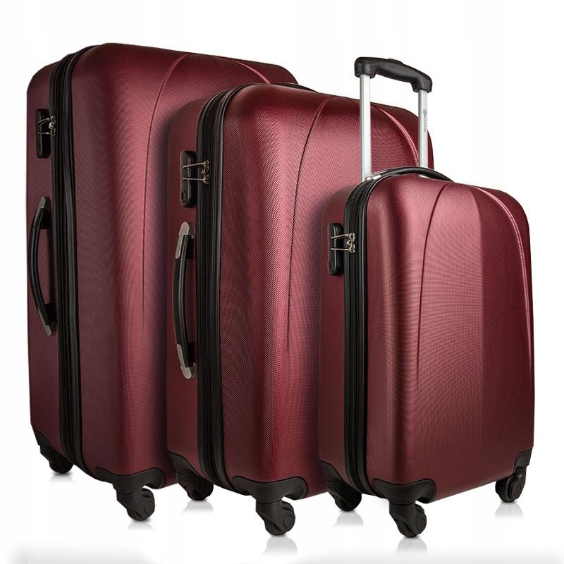 BETLEWSKI zestaw walizek podróżnych kółkach bagaż