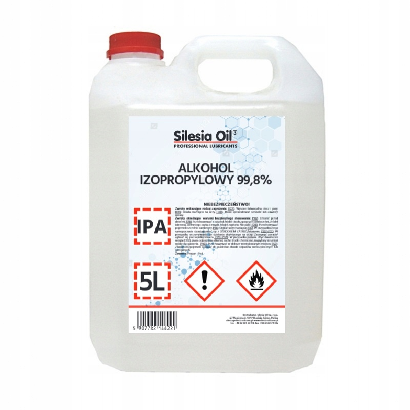 Изопропиловый спирт ИЗОПРОПАНОЛ IPA 99,8% 5Л