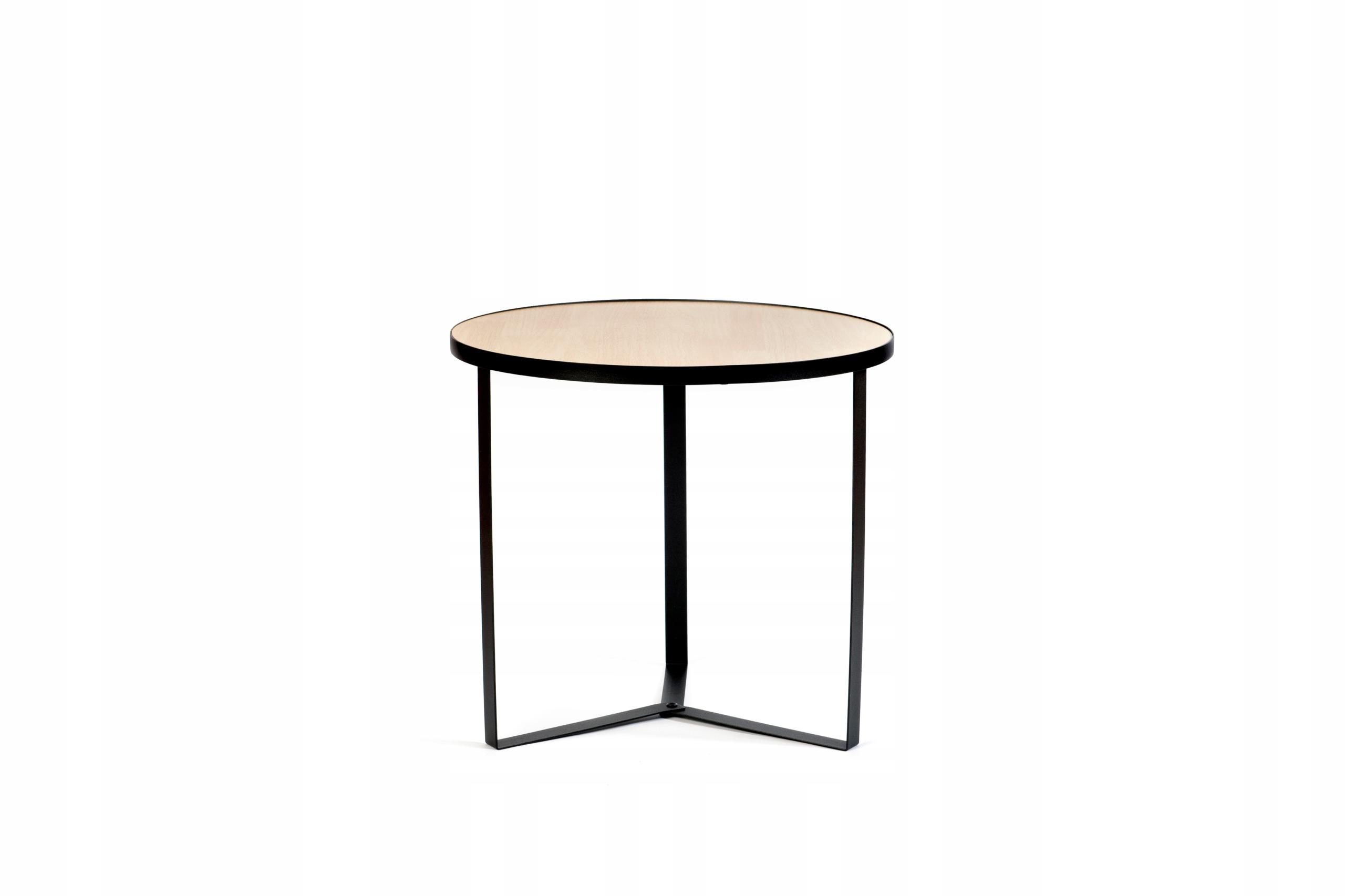 ROMER S - stolik kawowy industrialny loft - mały