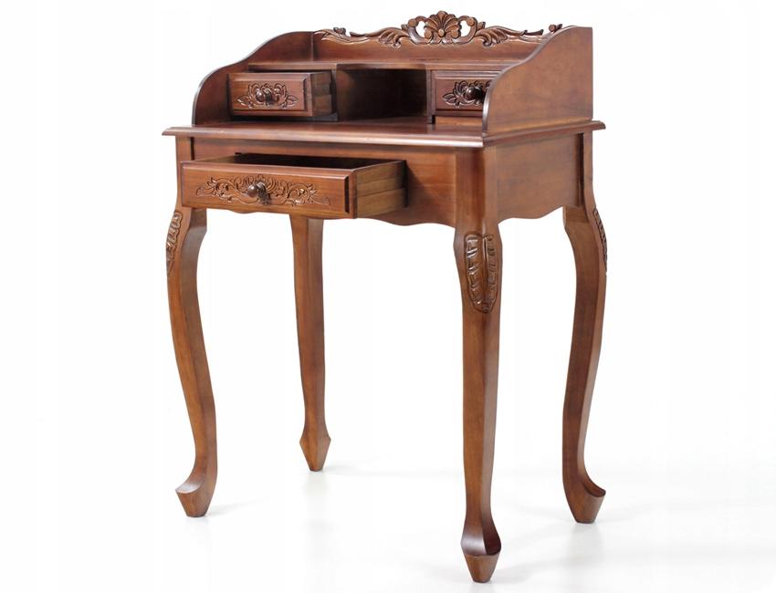 Стильный резной письменный стол из дерева