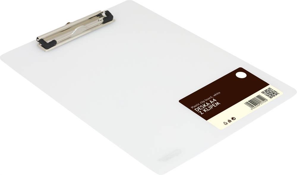 Stravovanie s klip A4 Schránka Biela podložka