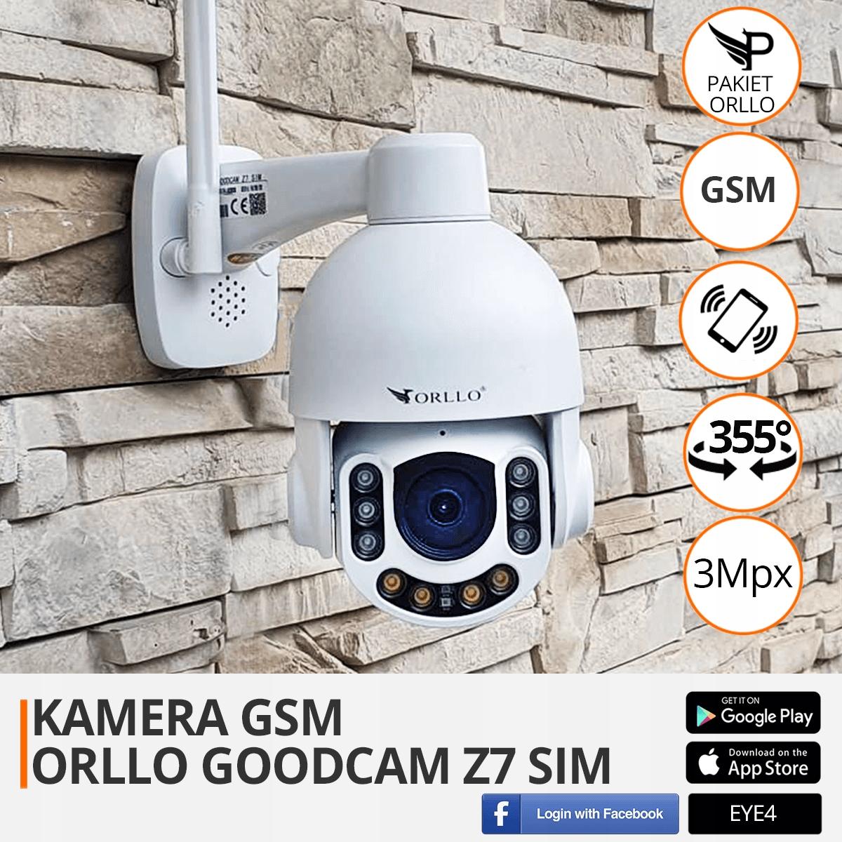 KAMERA OBROTOWA ZEWNĘTRZNA GSM SIM 3MPX ŚLEDZENIE Kod producenta Z7