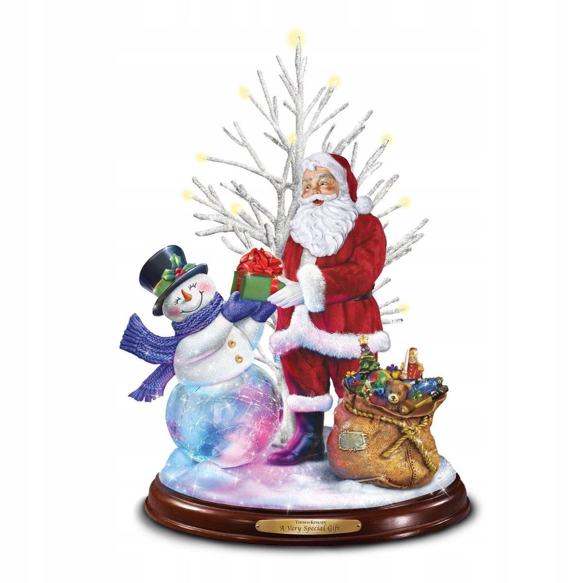 Mikołaj świąteczny bałwanek pozytywka lampka